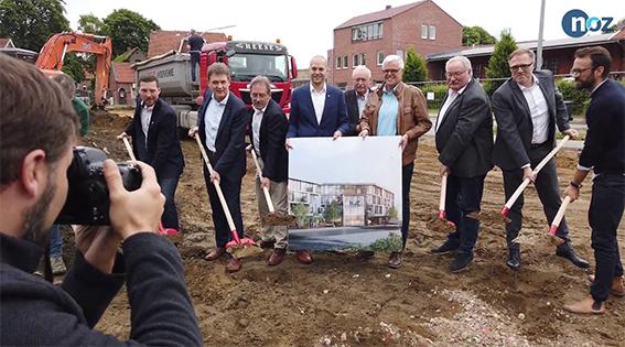 NOZ | 06.06.2019 Erster Spatenstich für neues Medienhaus in Lingen