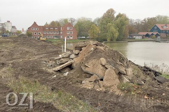 OZ | 16.11.2019 Hafenkopf-Projekt: Die ersten Bagger räumen auf