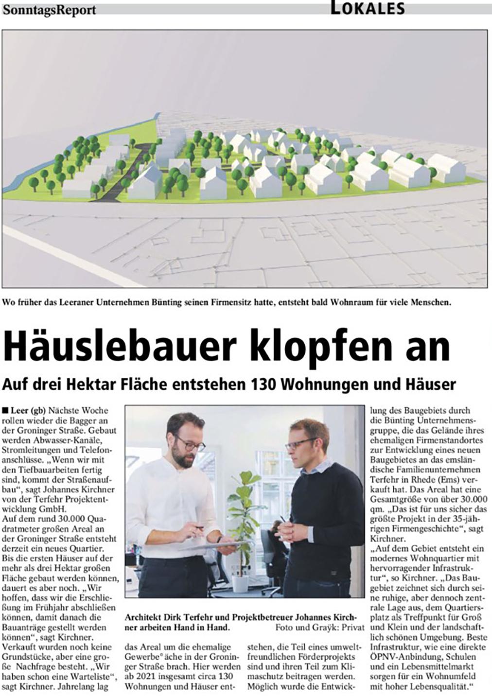 SR | 10.01.2021 Häuslebauer klopfen an – Auf drei Hektar Fläche entstehen 130 Wohnungen und Häuser